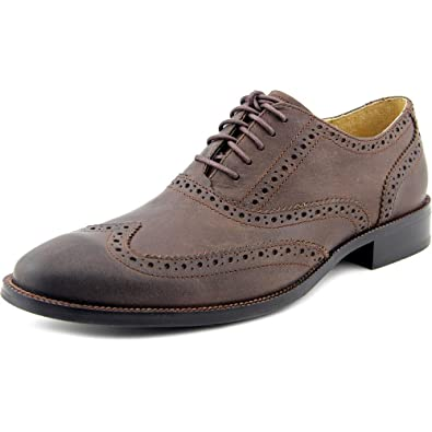 ae1f8d50b1 Amazon.com | Cole Haan Mens Casual Wingtip Leather Shoe, Chestnut, US 9 |  Oxfords