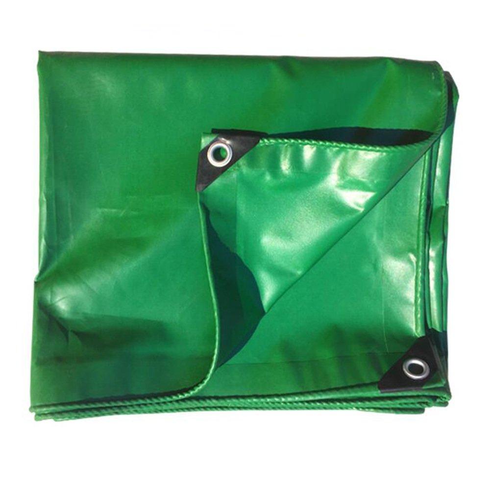 YNN 厚い防水シート屋外防水防水布防水日保護大型トラック用防水シートカーテン用防水カーテン0.42mm、-530 G/M²、17サイズオプション 防水シート (色 : Green, サイズ さいず : 4x 4m) B07FNX3QV5 4x 4m|Green Green 4x 4m