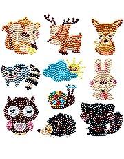 EAST-F DIY 5D Diamond Painting Kits for Kids Diamond Kits Paint by Numbers Diamond Dotz Kits for Children Sticker (Animals)