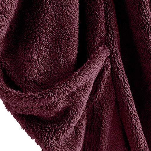Parka Ample Manteau Court Femme Jacket En Col Roulé Blouson Fausse Fourrure Hiver Épais Laine Grand Taille Veste Rouge Chaud wABpqAaYx