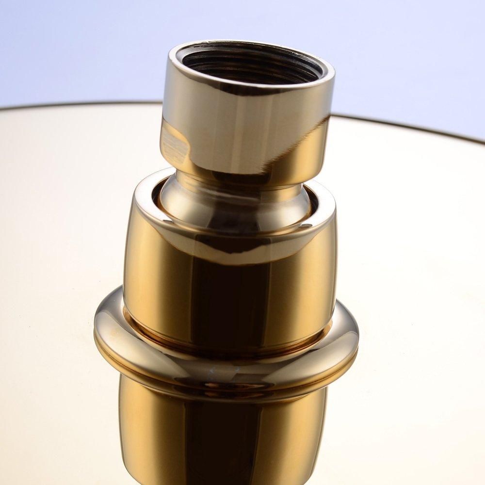KES Alcachofa de Ducha Todos Inoxidable Acero 8-Pulgadas Extra Gran Lluvia Ducha Cabeza Recambio Parte Titanio Oro J203-4