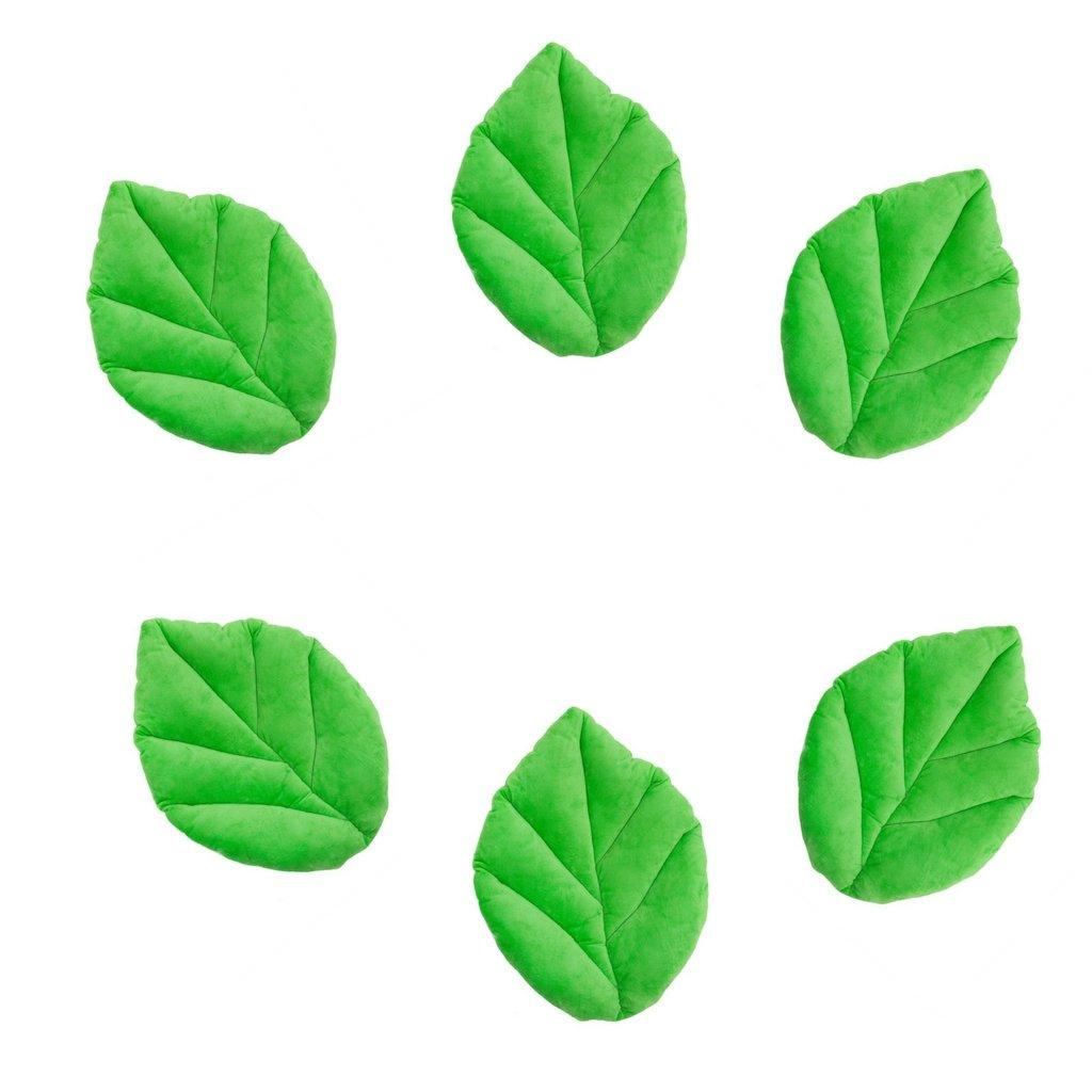 Floor Bloom Soft and Cozy Green Leaf Floor Pillow for Kids (Medium - Magic Garden Collection) (6)