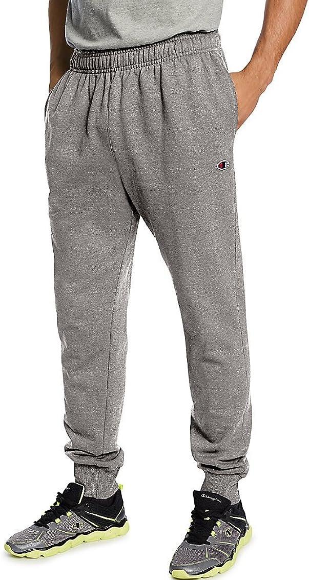 Size 2XL $40 Champion Powerblend Men/'s Fleece Jogger Pants Grey Heather NWT