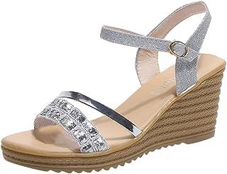 iHAZA Donne Soft Suole Danza Scarpe Casual Traspirante Scarpe Moderne Sandali Tacco Alto