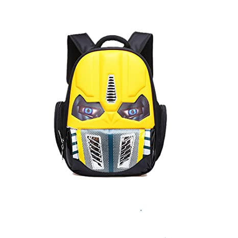 dc77560931 Amazon.com  Alipher School Backpack Waterproof Kids Backpack Comic School  Bag Student Bookbag Transformer Large Size Yellow  Toys   Games