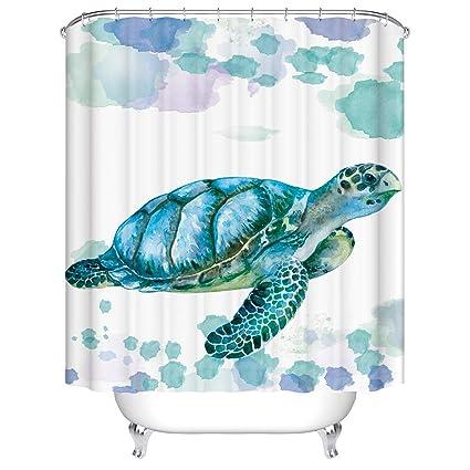 Koongso Sea Turtle Shower Curtain