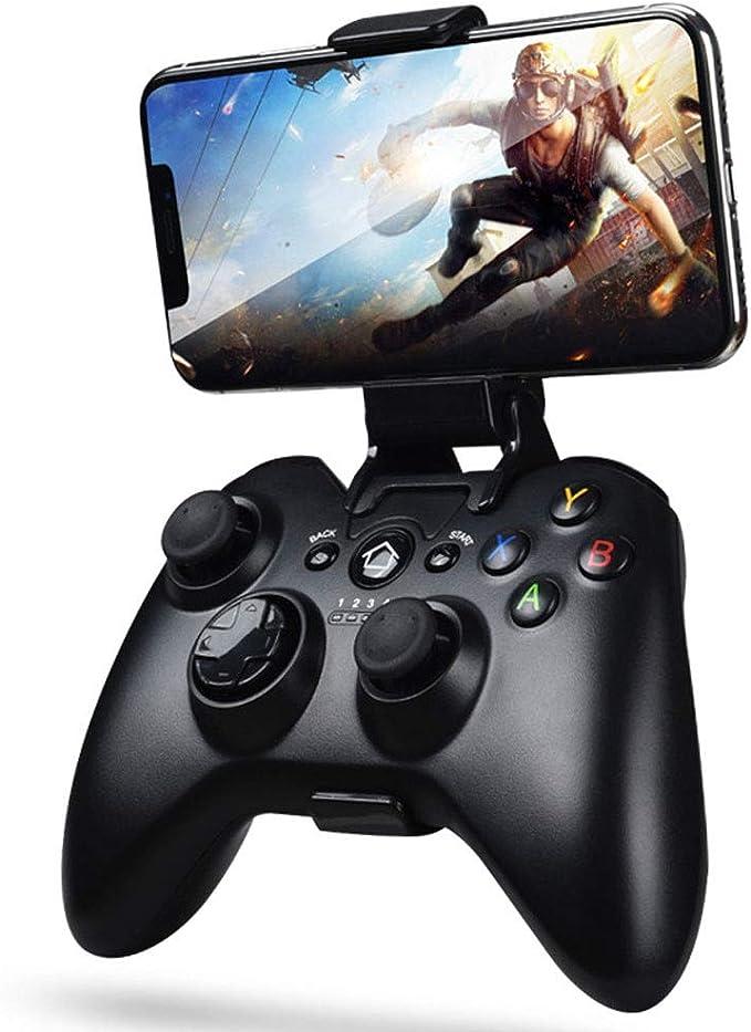 MQQ Controlador móvil Bluetooth compatible con iPhone Android Juego VR universal de conexión de cable con L3 + R3 compatibilidad, Power Pass A través de carga mejorada 8 way D-Pad y con
