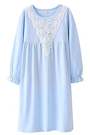 3636f7c443670 HOYMN Chemise de nuit pour Fille 3-13ans Robe de nuit à Manches Longues en
