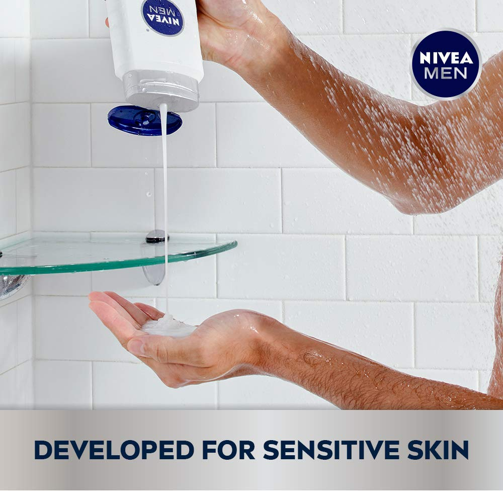 NIVEA Men Sensitive 3-in-1 Body Wash 16.9 Fluid Ounce (Pack of 3) : Bath And Shower Gels : Beauty