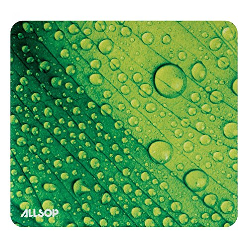 (Allsop 31624 Naturesmart Mouse Pad, Leaf Raindrop)