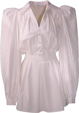 Vestido de Camisa Blanco de popelín: Amazon.es: Ropa y accesorios