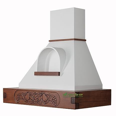 Cappa cucina rustica legno mod.FRUTTA con nicchia 90 cm colore FS ...