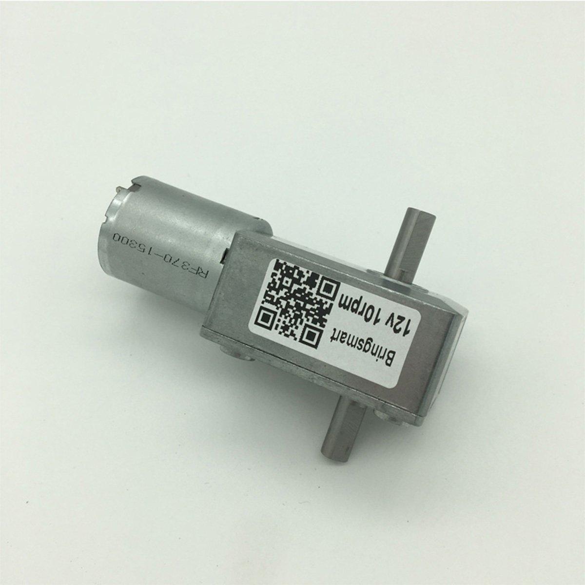 Bringsmart 6V Double Shaft Gear Motor 12V 24V DC Dual Output Shaft Reducer Self-lock (JGY-370 6V 6rpm) by Bringsmart (Image #4)