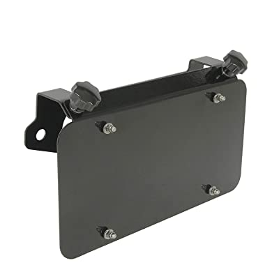 EAG Universal Stainless Steel License Plate Mount for Aluminum Hawse Fairlead: Automotive