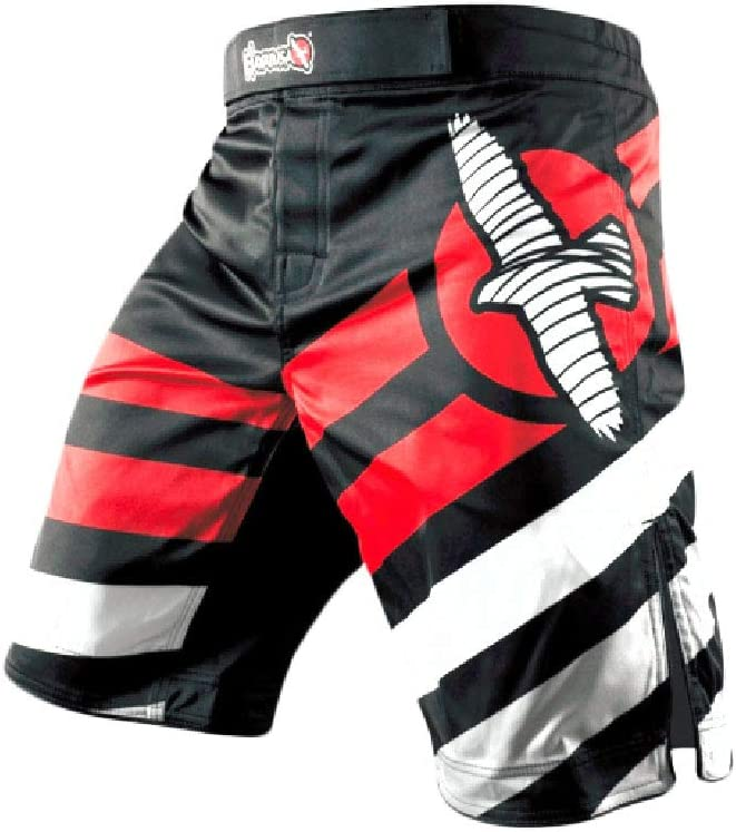 YSYFZ Herren Free Fighting Shorts Boxen Laufen Fitness Training Shorts MMA BJJ UFC