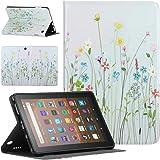 Pudazvi Case for Amazon Kindle Fire HD 8/8 Plus Tablet Case(10th Generation 2020 Release),Ultra Slim Multi-Angle Viewing Auto