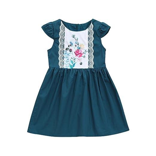 Vestidos Niña Fiesta, FAMILIZO Vestidos Bebe Niña Verano Vestido De Fiesta Vestidos Niña Verano Manga Corta Para Bebés Niña Vestidos Niñas Ceremonia ...