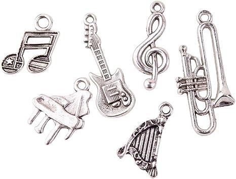 Packet 5 x Tibetan Silver Trumpet//Musical Instrument Charm//Pendant