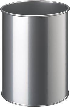 DURABLE 330301 nero 450x315 mm Cestino cilindrico in acciaio verniciato 30 capacit/à 30 litri