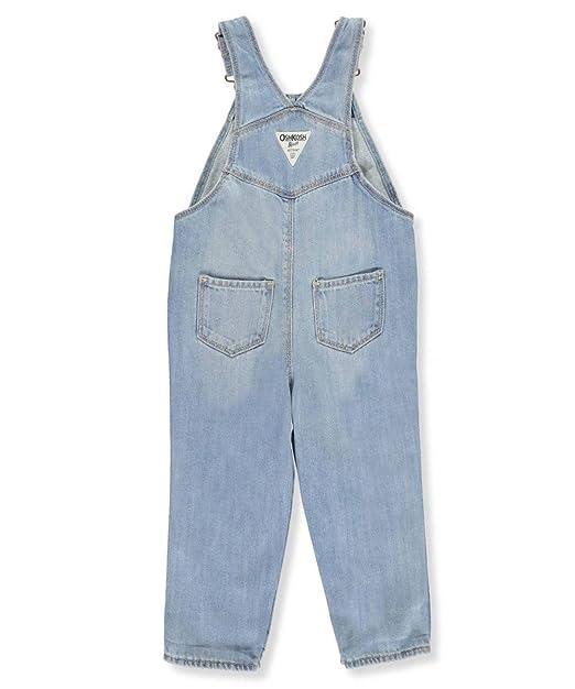 c33e21552d2 Amazon.com  OshKosh B Gosh Baby Girls  Patchwork Denim Overalls  Clothing