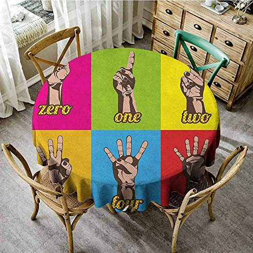 Rank-T Round Tablecloth Party Fitted 63