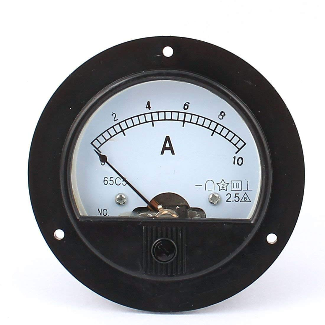 YXQ 0-10A Analog Current Panel 65C5-A Amp Ammeter Gauge Meter 2.5 Accuracy for Auto Circuit Measurement Tester by YXQ