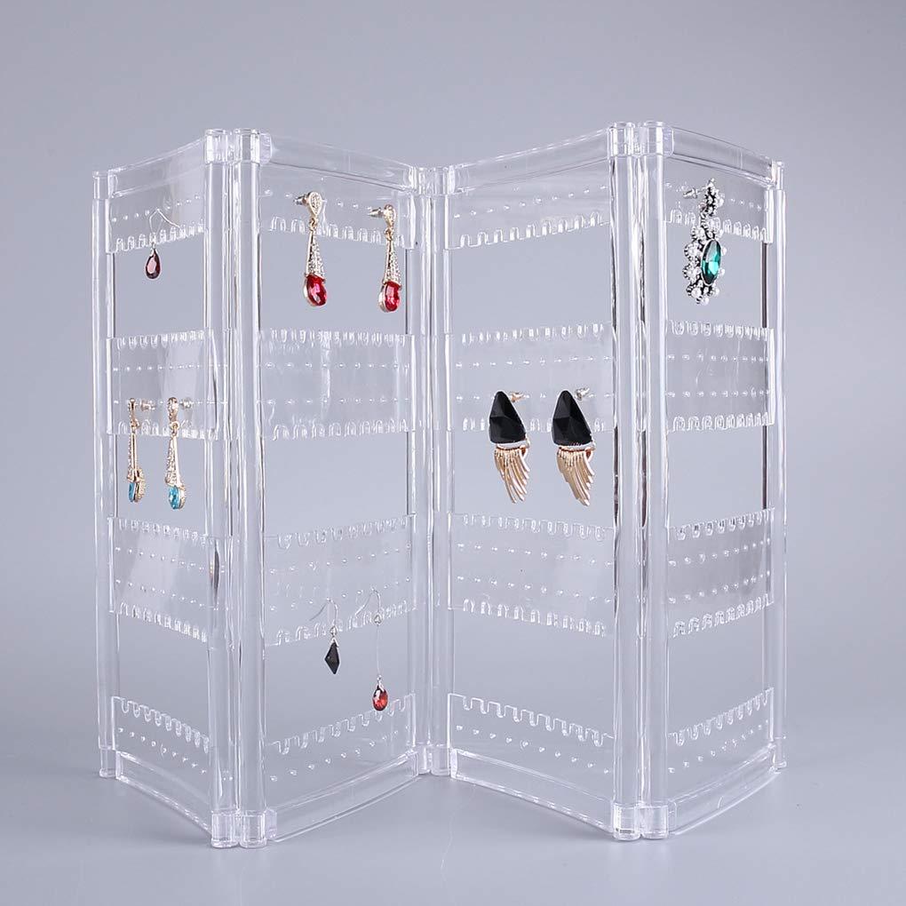 Morza Boucles doreilles en Acrylique Transparent Oreilles Studs Collier Bijoux Pr/ésentoir Support Organisateur Porte-Box Case