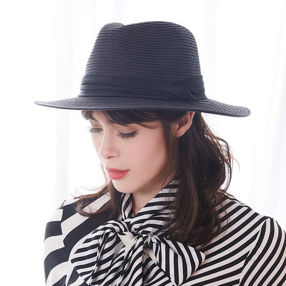 Unisex Summer Beach Hat Wide Brim Sun Hats Light Weight Straw Hat Classic Panama Hat