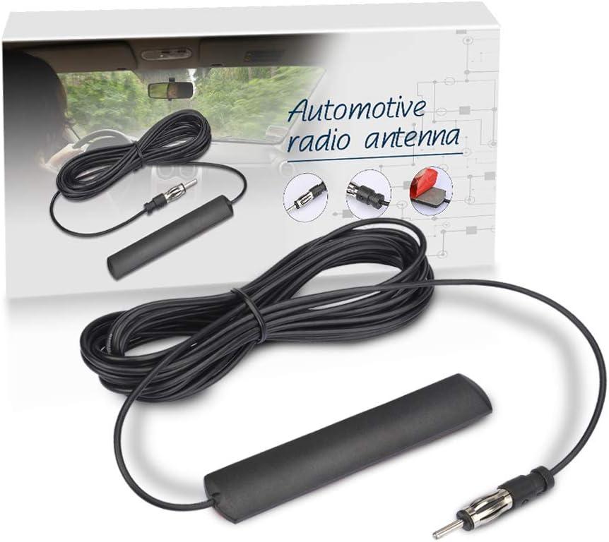 1 X Auto Radioantenne Fm Radio Antenne Patch Universal Windschutzscheiben Paste 5 M Schwarz Auto