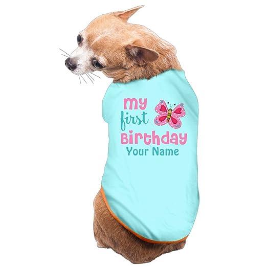 Primer cumpleaños niña mariposa rosa personalizado camiseta ...