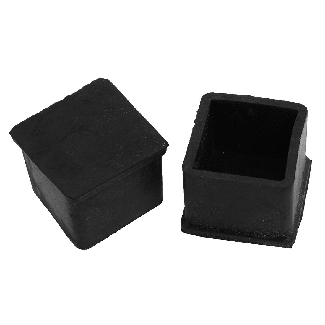 10xchair table leg foot rubber covers floor protector cap square black amazon co uk kitchen home