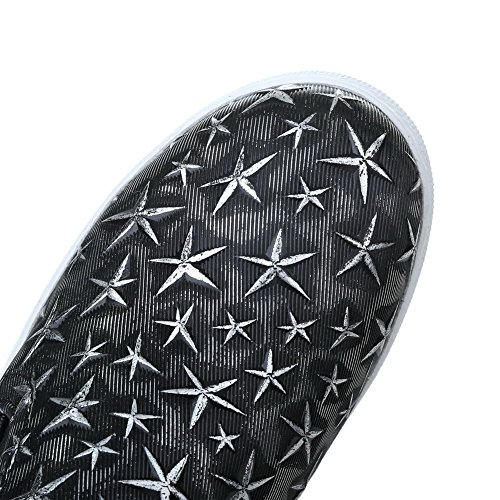 Pumps Color WeiPoot Shoes Heels Microfibre Women's Round Low Black Assorted Toe 4w8qa46