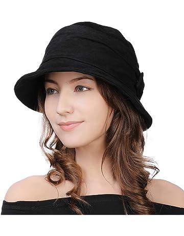 16614b3491a 1920 Vintage Cloche Bucket Hat Ladies Church Derby Party Fashion Winter  55-59CM