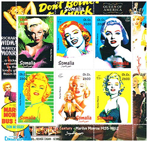 Marilyn Monroe stamps - Posters of Marilyn Monroe - Mint and never mounted sheet with 6 stamps