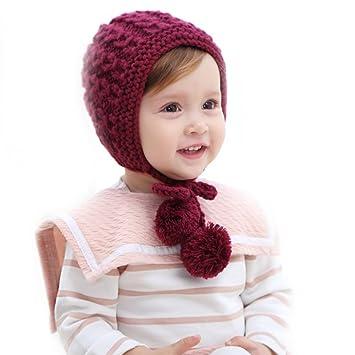 Bonnet, Vandot Bébé Bonnet avec Boule de Fourrure Cute Cap Hat Doux  Confortable Laine Bonnet da5a197051b