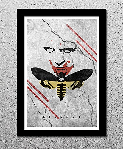 (Silence of the Lambs - Hannibal Lecter - Original Minimalist Retro Art Poster Print)