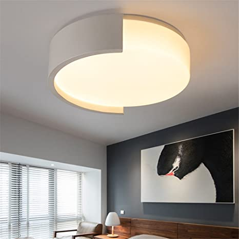 CHLIGHT 40cm moderno geométrico de acrílico redondo LED ...