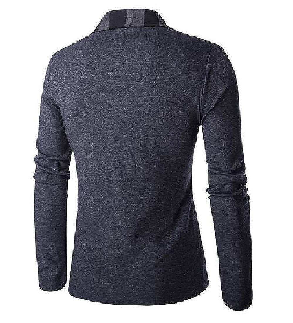 SportsX Mens Causal Long Sleeve No-Buckle Open Front Knitwear Sweater