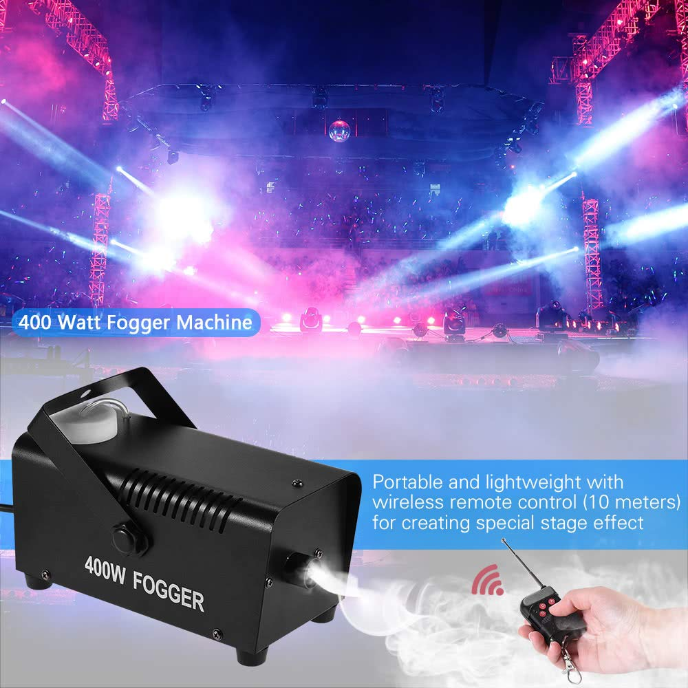Watt Fogger Fog Smoke Machine with Remote Control for Party Live Concert DJ Bar KTV Stage Effect