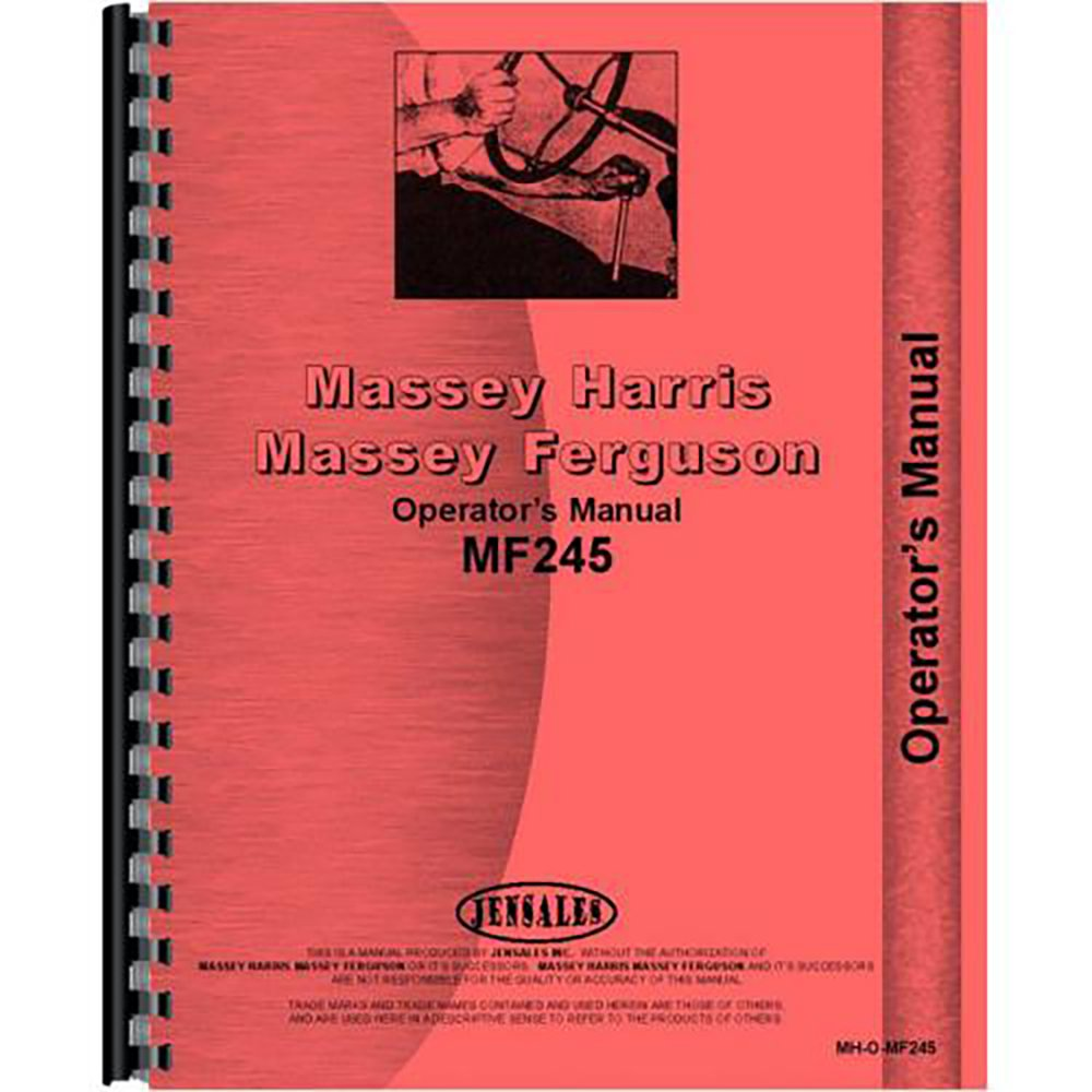 Amazon.com: New Operators Manual Made For Massey Ferguson MF 245 Tractor:  Industrial & Scientific