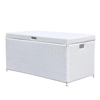 Preferred Amazon.com : Outdoor 70 Gallon Wicker Deck Storage Box Color  KJ62