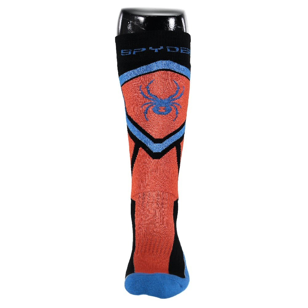 Spyder Men's Venture Sock, Black/Burst/French Blue, Medium