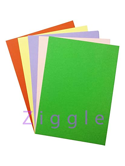 Ziggle A4 Size pastel Sheets Paper colored paper Sheets for Art and ...