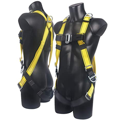 Xben 5 D-Ring Roofing Fall Protection Safety Harness, Full Body Fall Arrest  Harness Equipment Kit for Aerial lift, Ironworker, Scaffolding, Tower,