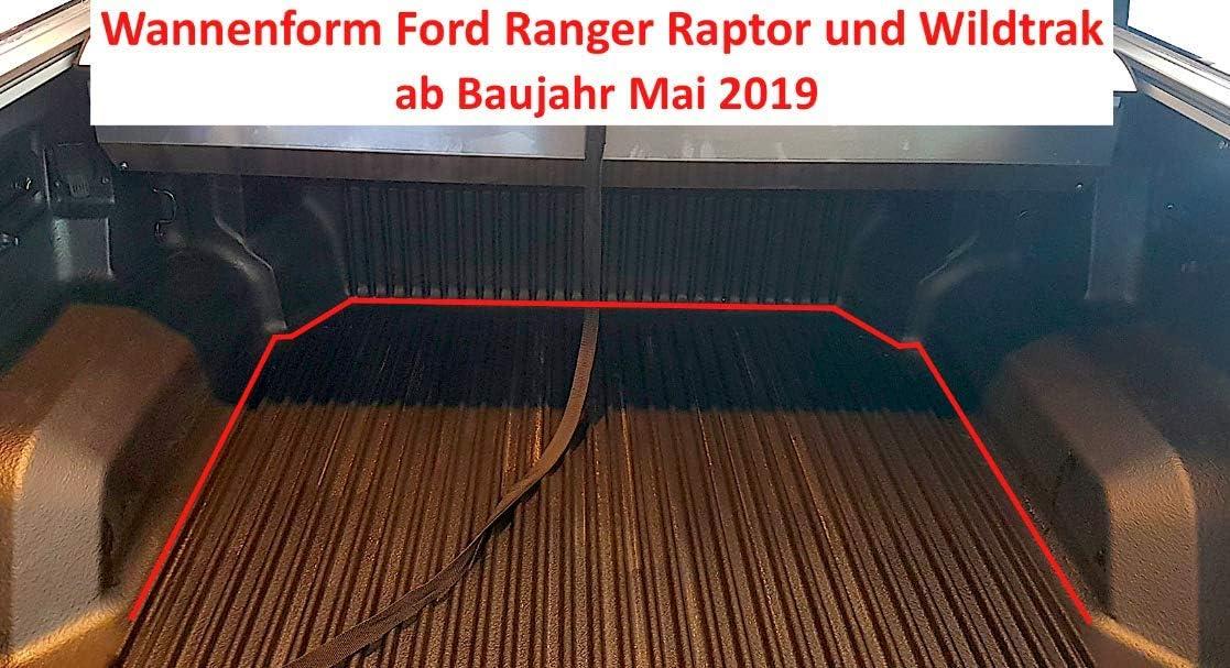 Doppelkabine mit Laderaumwanne ab Baujahr Mai 2019 Pickupmatte Antirutschmatte kompatibel mit//geeignet f/ür Ford Rangerr Raptor//WILDTRAK//XL//XLT//Limited