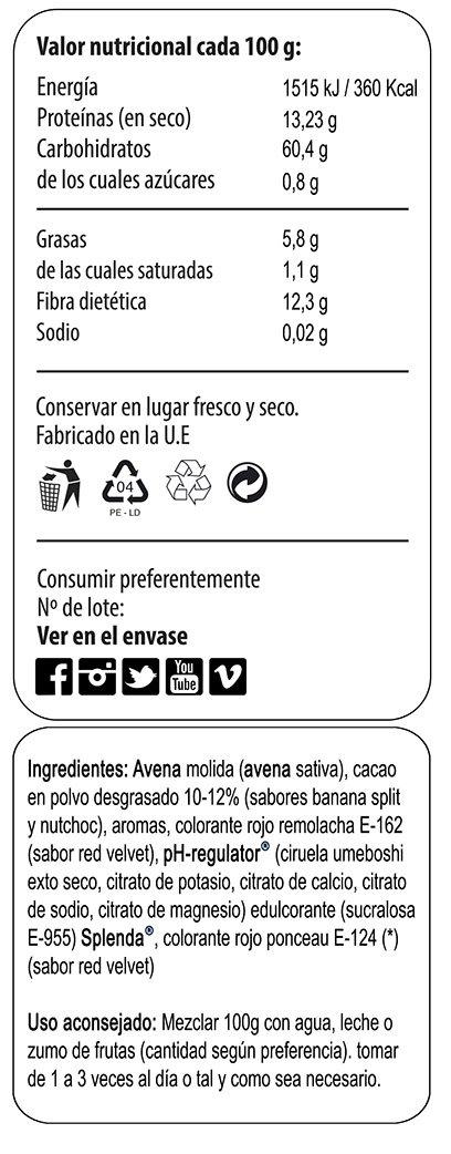 Max Protein Oatmeal Sac Harina Avena Termo-Activada - 3000 gr