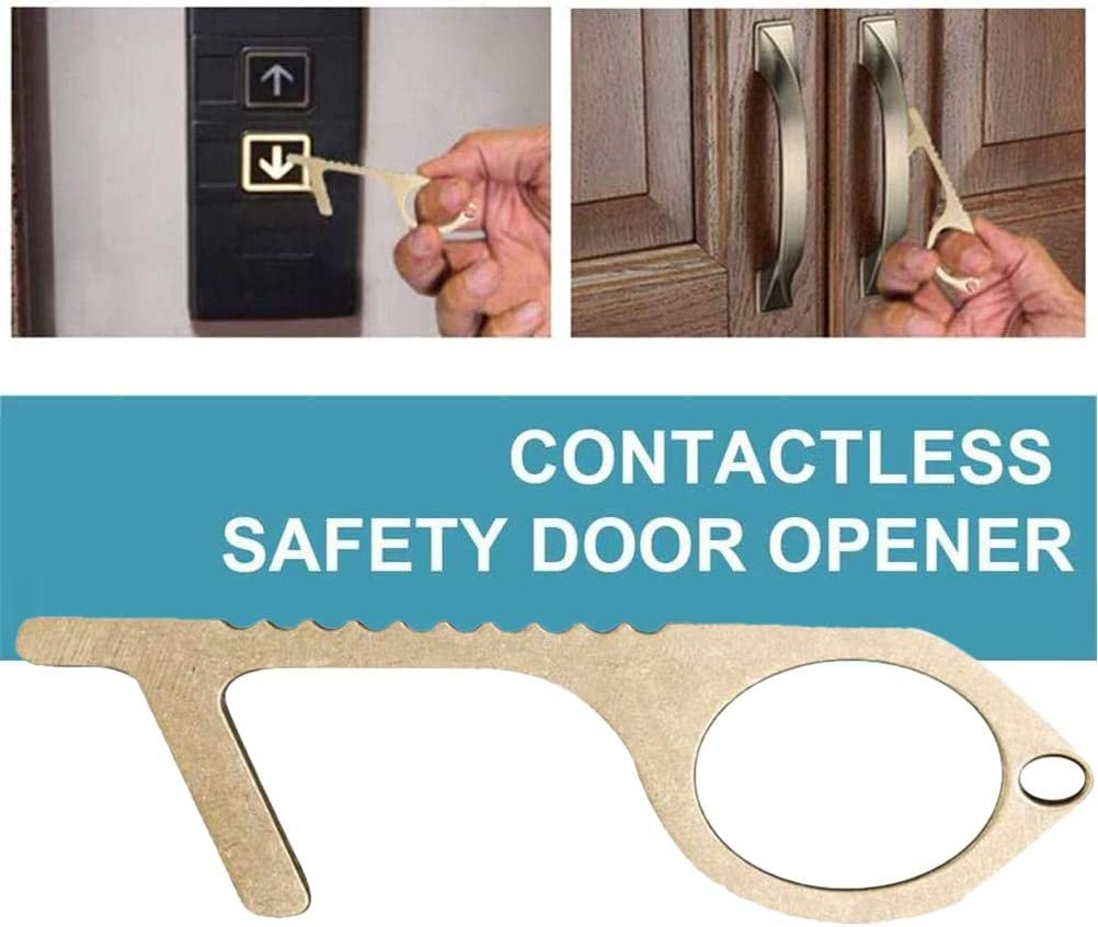 Easy to Carry Alloy No-Touch Door Opener kengb 2 pcs Door Opener Key Tool for Outdoor Public Door Handle,Safety Protection Non-Contact Reusable Press Elevator Button Keep Hands Clean,Wide Usage