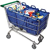 Set of 3 Reusable Supermarket Grocey Shopping Trolley Bags