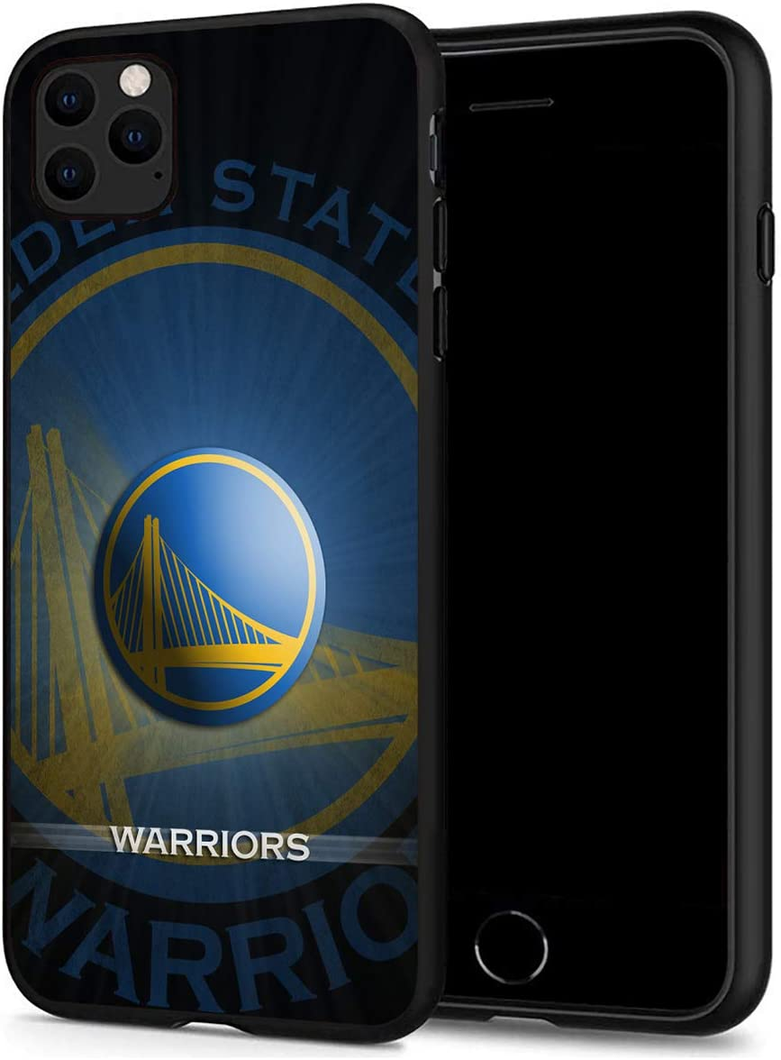 iPhone 11 Case, Basketball Team & Star Fashion Hard Plastic & Silicone Rubber Bumper Protective Case for iPhone 11 (6.1-inch Display) (Warriors-11)