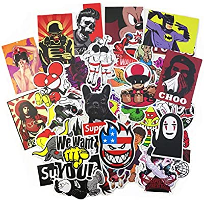 Beyong 100pcs Cool Graffiti Decals Vinyls Stickers Perfect to Car Motorcycle Bicycle Skateboard Laptop Luggage Bumper